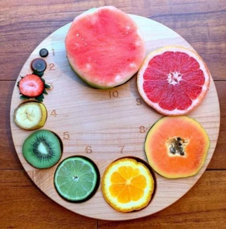 ontsluitingsbord met fruit