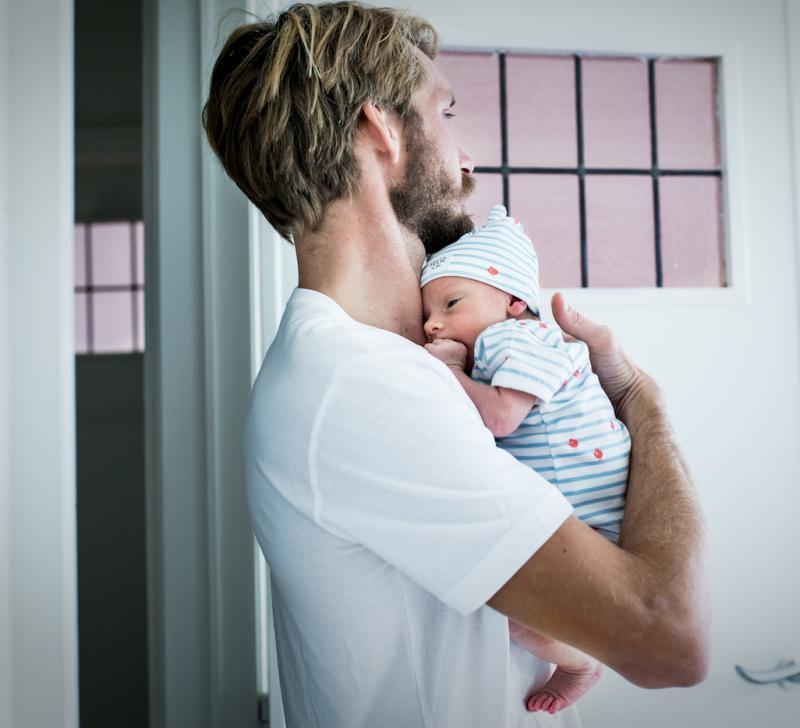 baby bij papa feliz filou