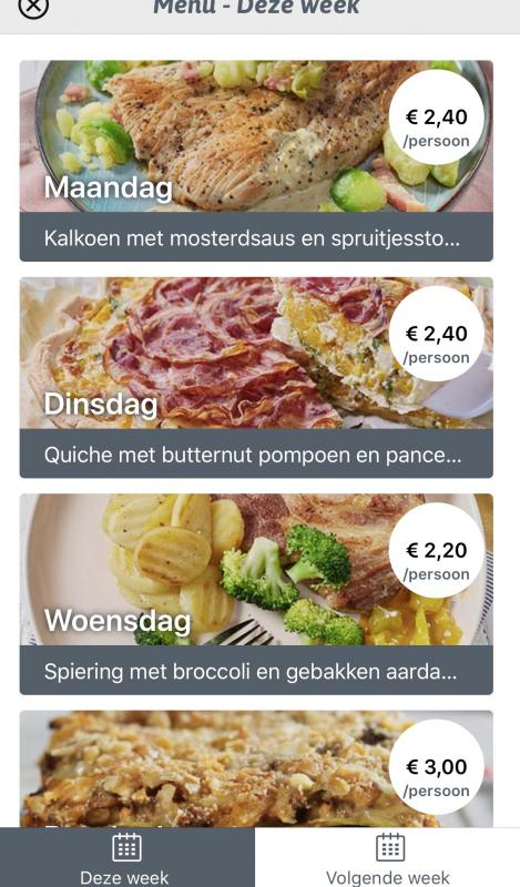 weekmenu CollectGo