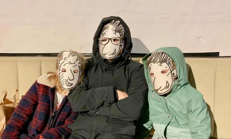 andy en terry maskers