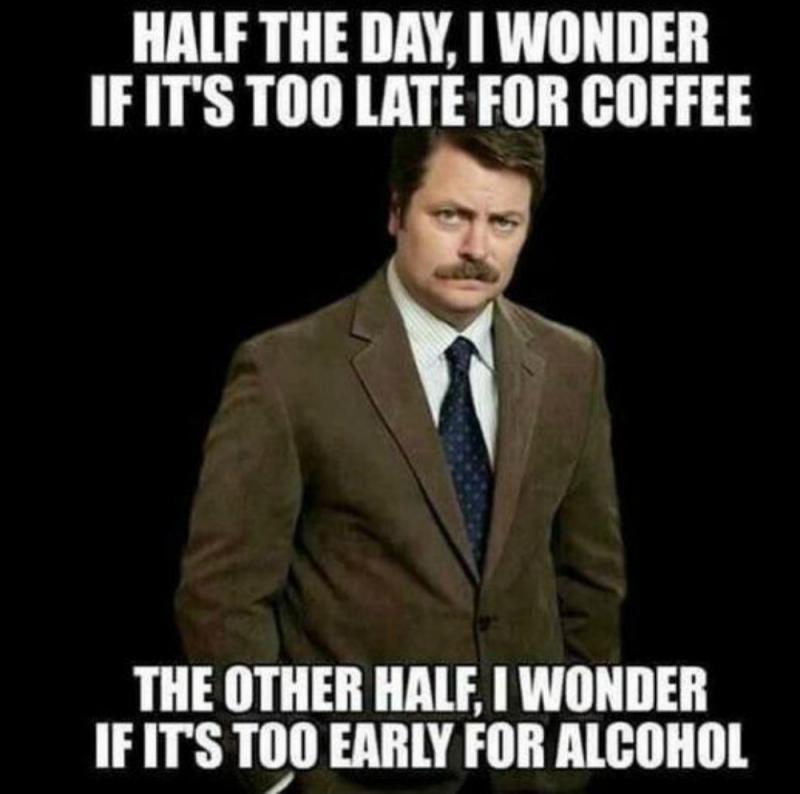 Grapje koffie alcohol