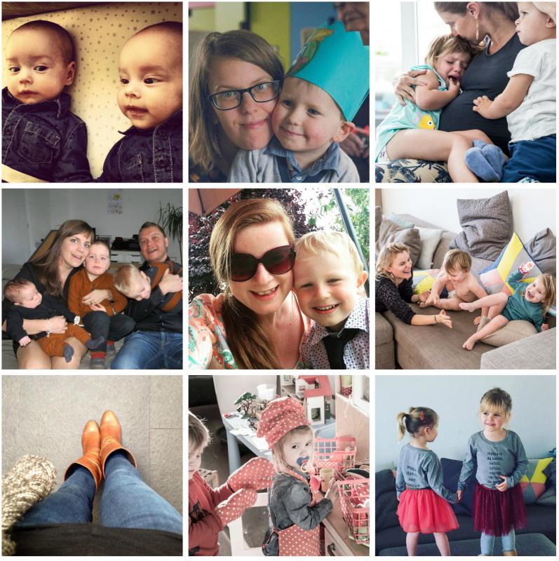 collage vrouwen en kinderen