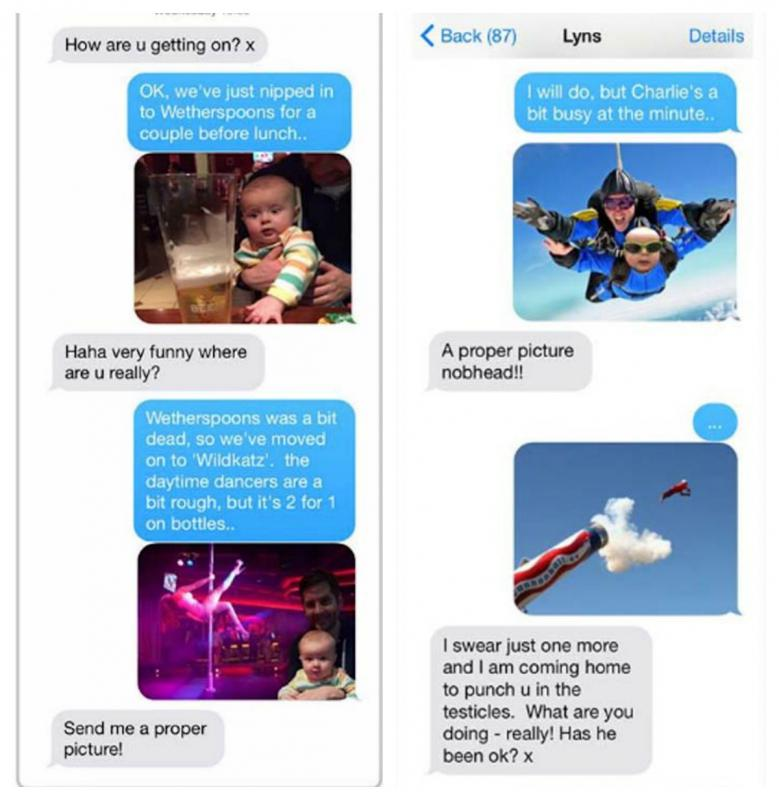 man vs baby text