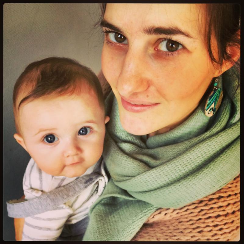 mama valerie met haar dochtertje lune