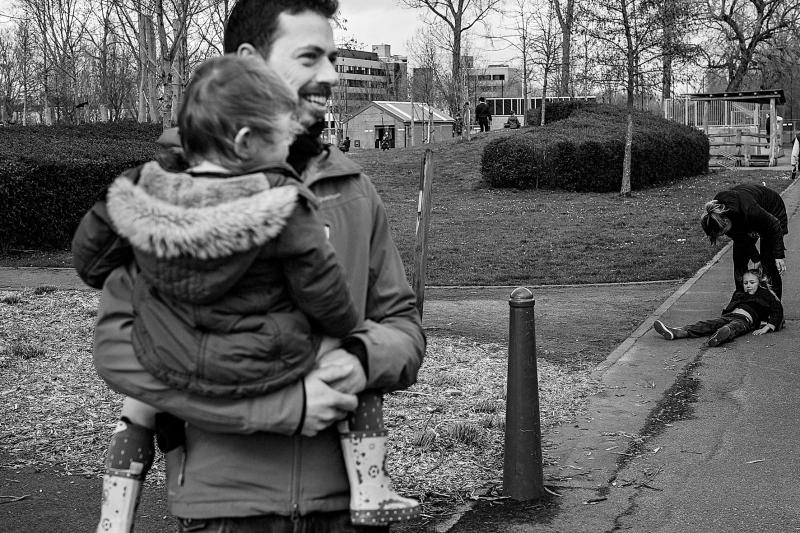 gezin aan het wandelen