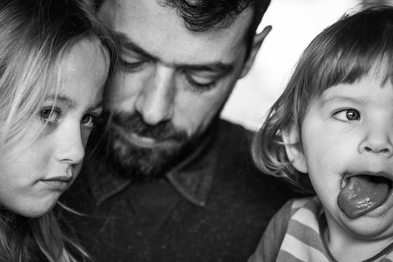 Papa met kinderen