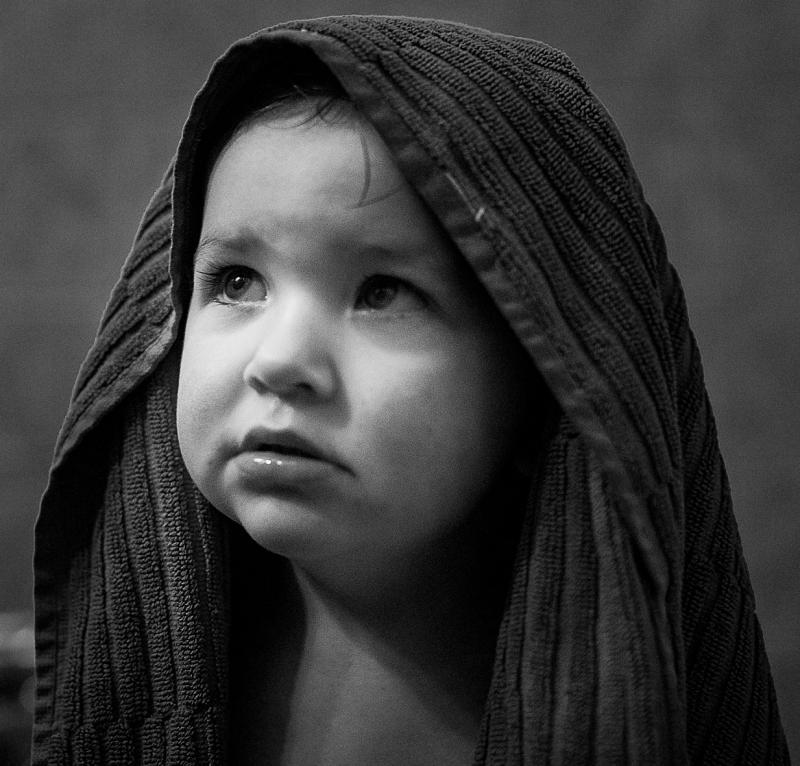 kind met handdoek