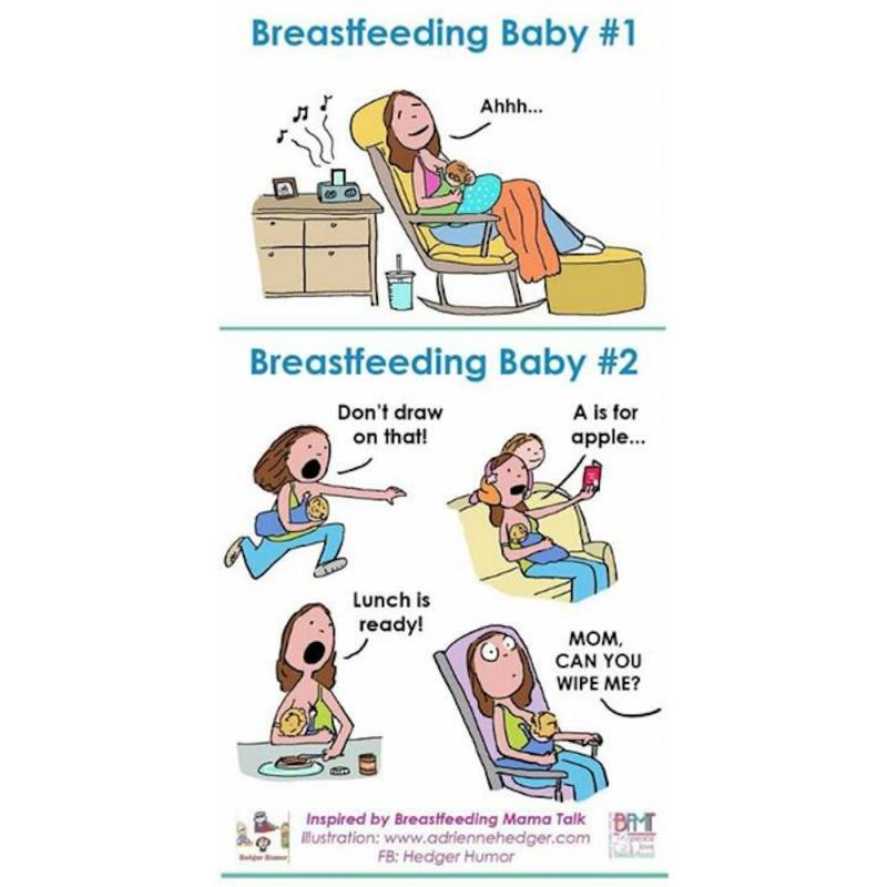 Breastfeeding reality cartoon
