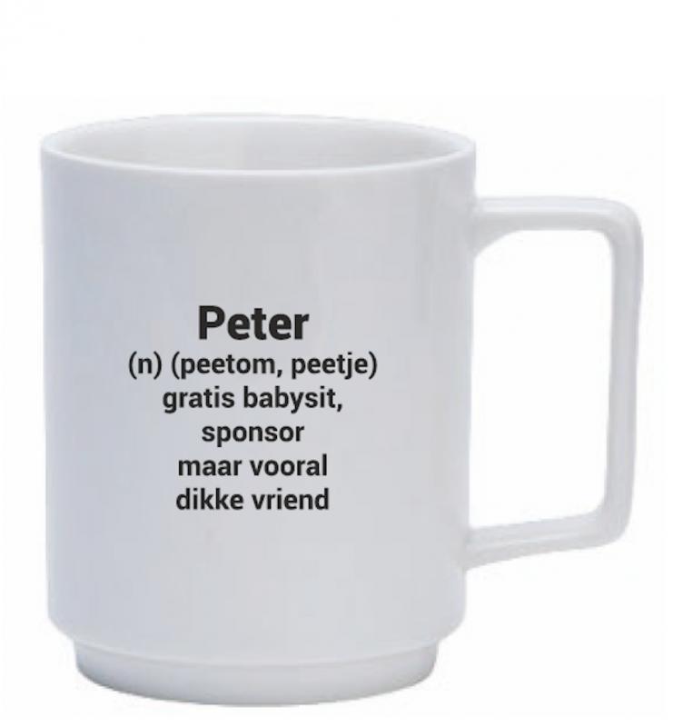 Koffiemok voor peter