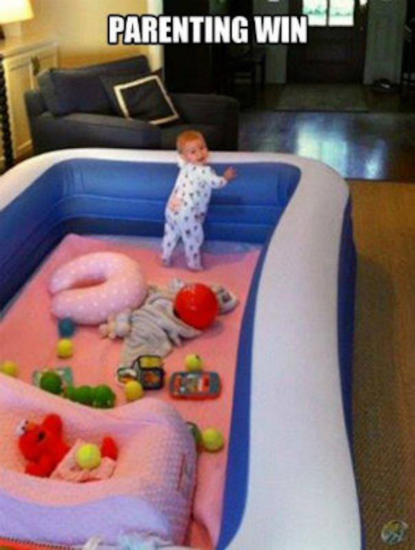 parenting hack pool