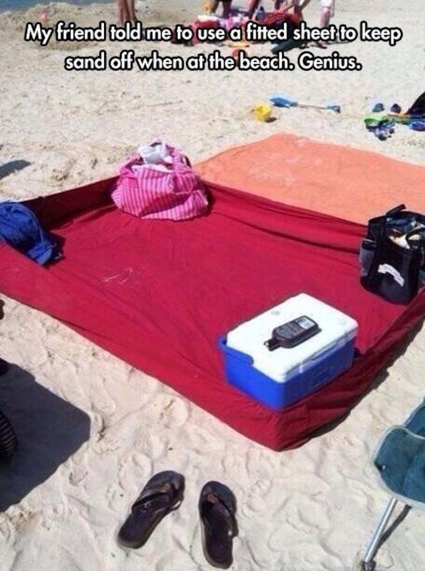 parenting hack beach