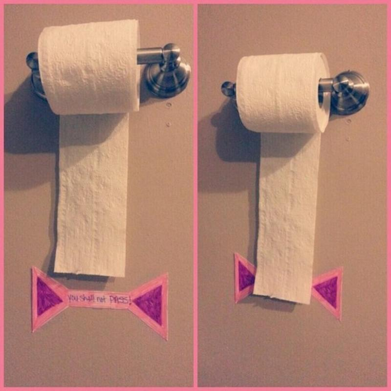 parenting hack toilet paper