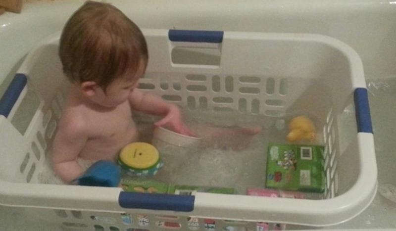 parenting hack bath