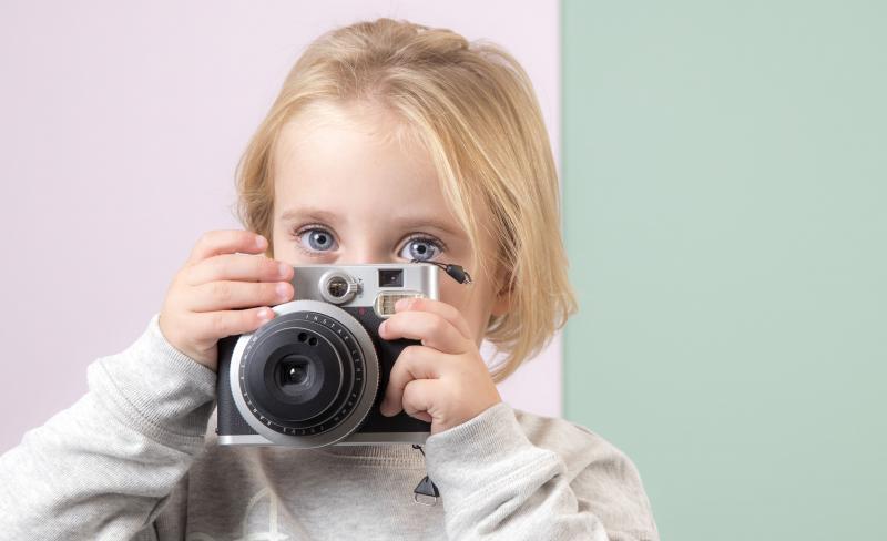 meisje met fototoestel