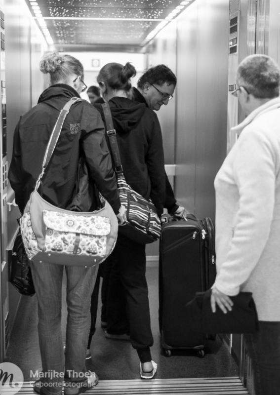 mensen in de lift