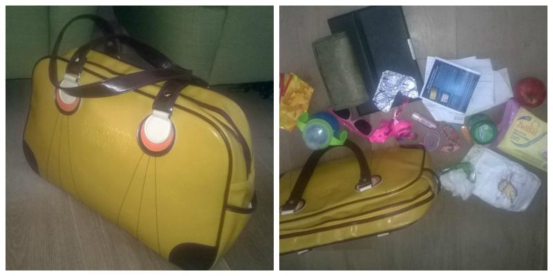 inhoud van een handtas van een mama