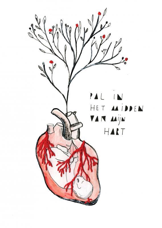 tekening hart
