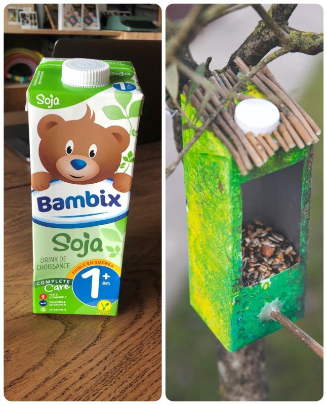 Voederhuisje met Bambix brik